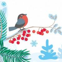 Ланчбокс со снегирём