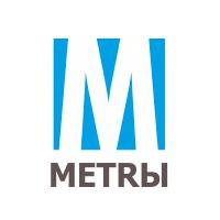 Метры. Интернет-ресурс по недвижимости. Логотип.