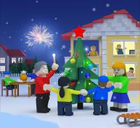Сахалин порт календарь в стиле лего (3D) декабрь