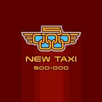 Новое Такси. Служба такси с телефоном 500-000. Лого, ролик, плакат.