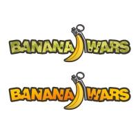 Banana Wars. Популярная онлайн-игра. Логотип.