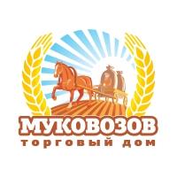 Муковозов. Компания, поставляющая зерно и муку. Логотип.