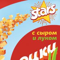 «Старс», серия упаковок для сухариков, логотип и рисунок