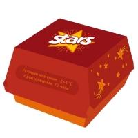 Логотип и упаковка для фастфуд-сети «Stars»