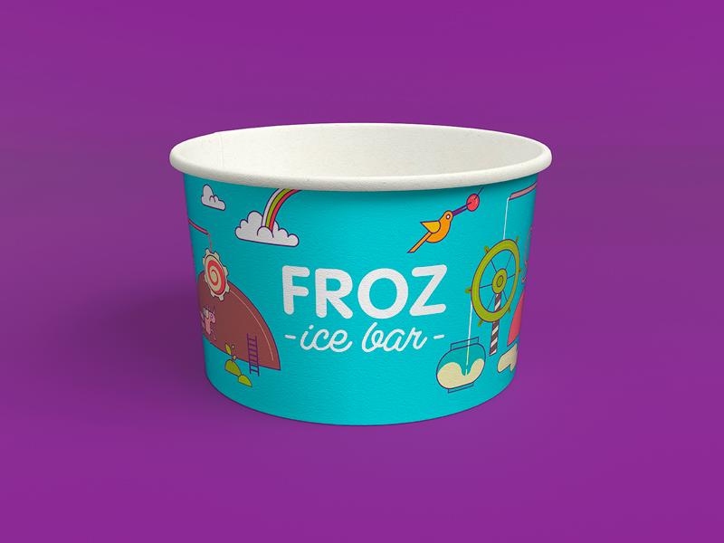 Ice cream packing design
