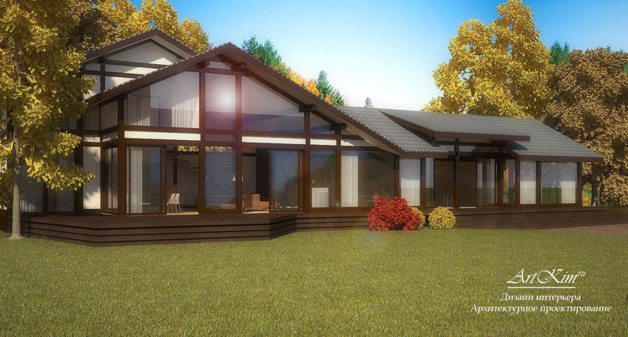 Архитектурный проект гост дома