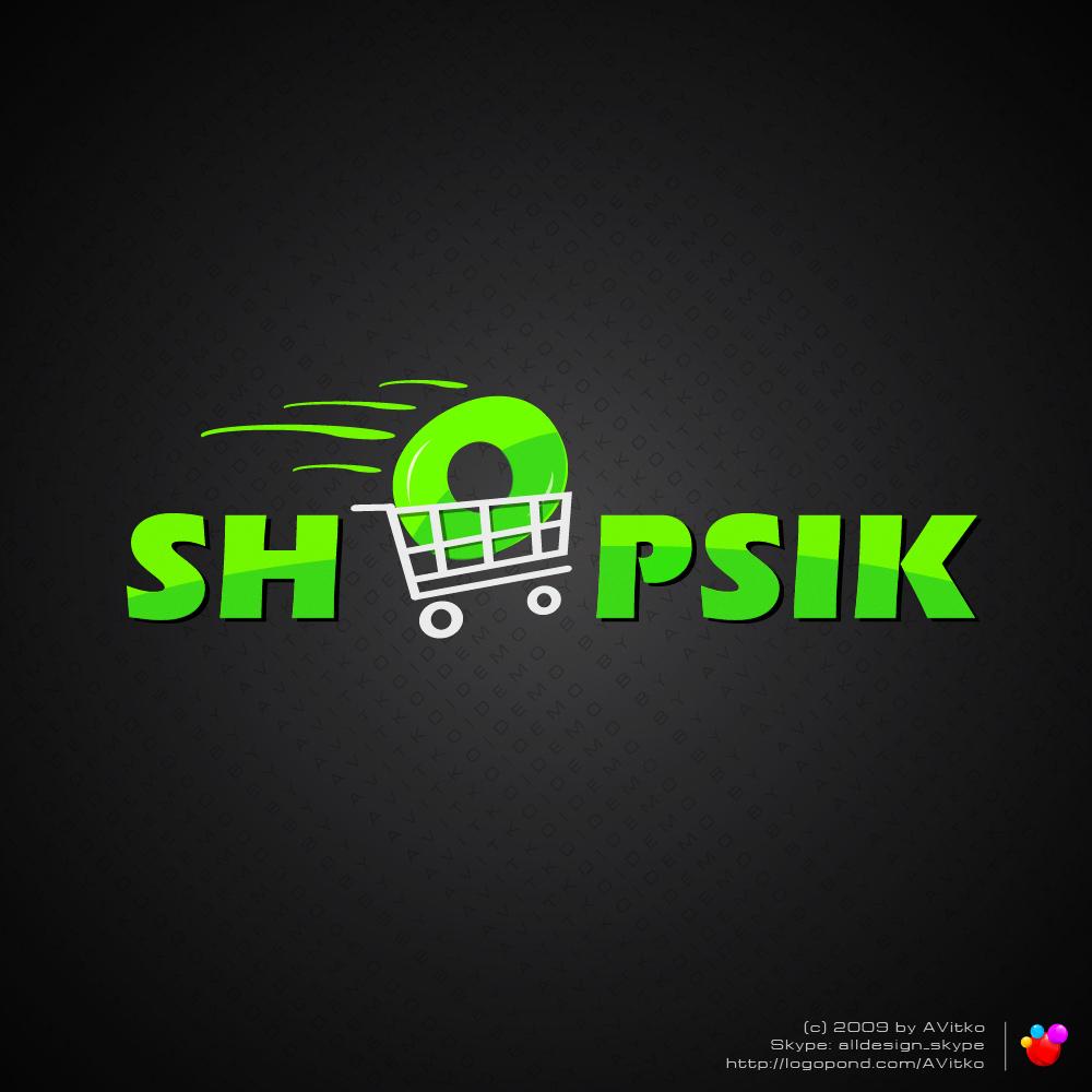 Дизайн логотипа интернет магазина Shopsik