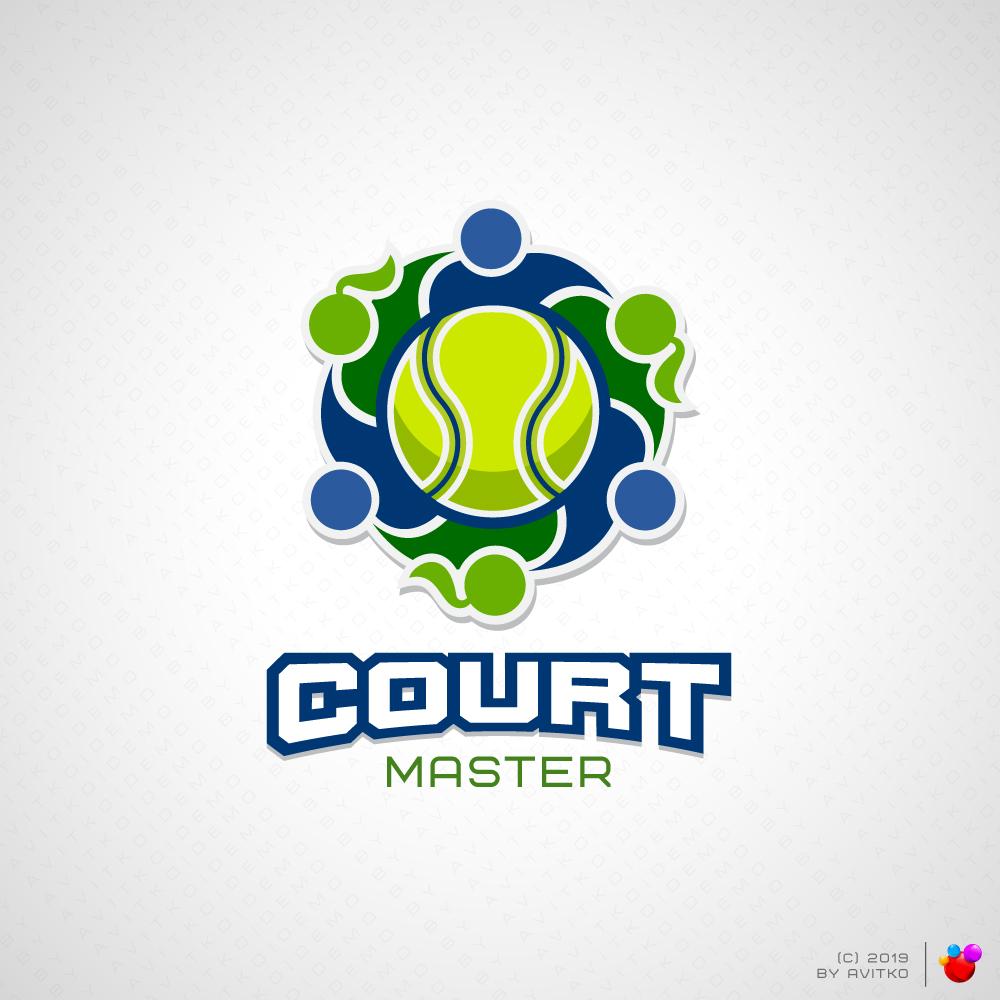 Логотип для теннис коучинга