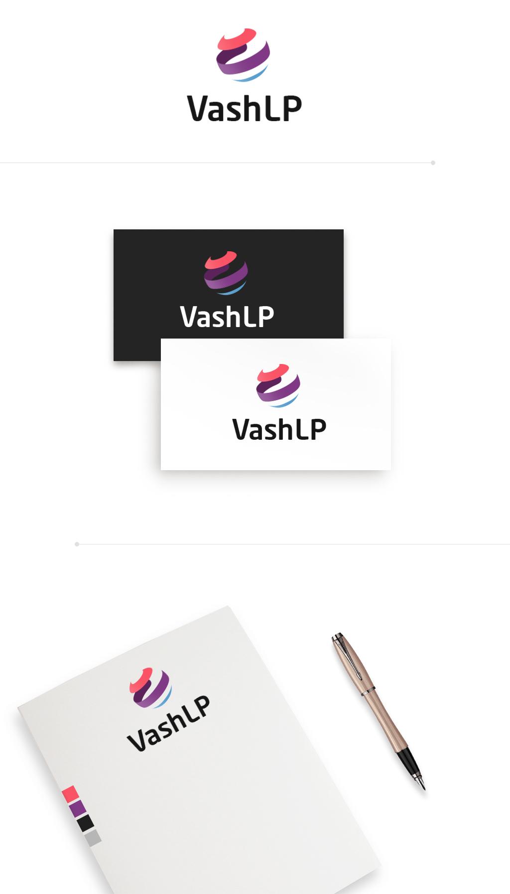 Логотип для лендинга VashLP (4 варианта)