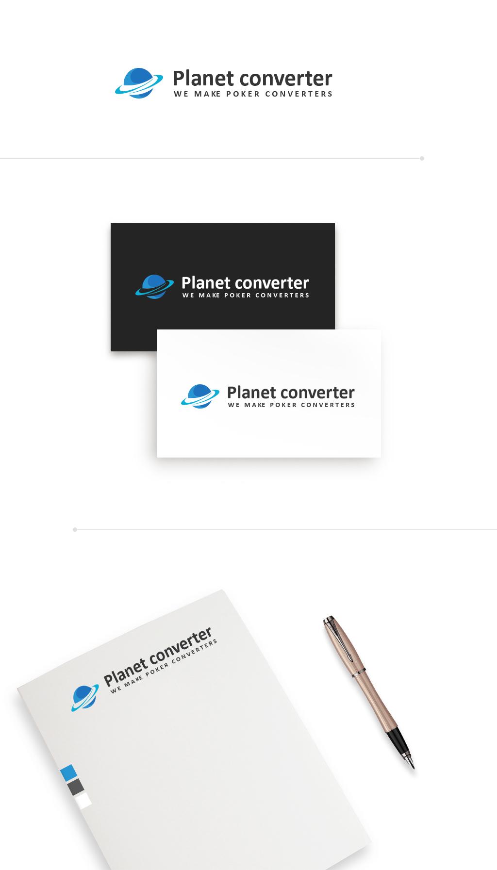 Логотип для сайта покера Planet Converter (3 варианта)