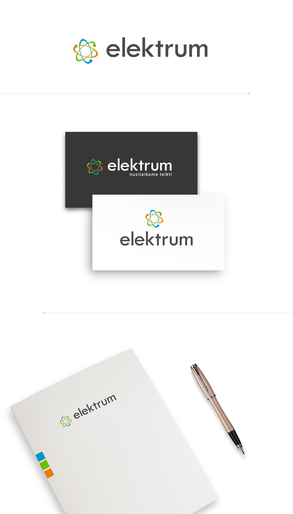 Логотип для поставщика электроэнергии Elektrum (Литва)