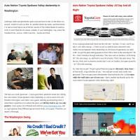 "Постинг статьи ""Auto Nation Toyota Spokane Valley dealership in Washington"""