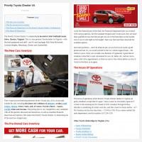 """Постинг статьи """"Priority Toyota Chester VA"""""""