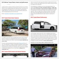 "Постинг статьи ""2015 Minivan Toyota Sienna: interior and performance"""