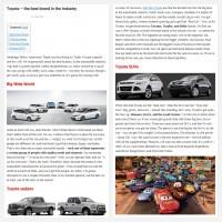 """Постинг статьи """"Toyota – the best brand in the industry"""""""