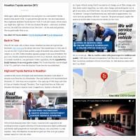 "Постинг статьи ""Hoselton Toyota service (NY)"""