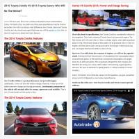 "Постинг статьи ""2016 Toyota Corolla VS 2016 Toyota Camry"""