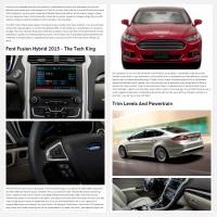 "Постинг статьи ""Ford Fusion Hybrid 2015"""