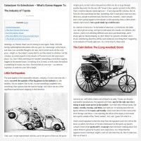 "Постинг статьи ""Cataclysm Vs Eclecticism – What's Gonna Happen To The Industry of Toyota"""