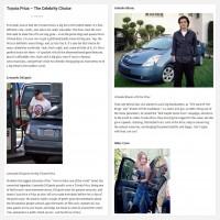 """Постинг статьи """"Toyota Prius – The Celebrity Choice"""""""