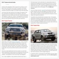 "Постинг статьи ""2016 Toyota mid size trucks"""