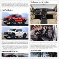 """Постинг статьи """"Ford Models 2016"""""""