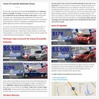 "Постинг статьи ""Toyota Of Lewisville dealership (Texas)"""