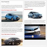 """Постинг статьи """"Price of Toyota Cars"""""""