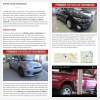 "Постинг статьи ""Premier Toyota of Richmond"""