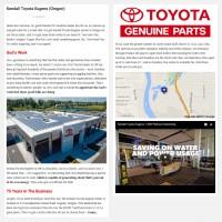 """Постинг статьи """"Kendall Toyota Eugene (Oregon)"""""""