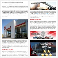 "Постинг статьи ""See Toyota Rockville dealer in Maryland (MD)"""