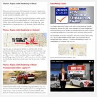 "Постинг статьи ""Thomas Toyota Joliet Dealership in Illinois"""