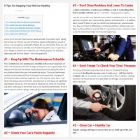 "Постинг статьи ""5 Tips For Keeping Your Old Car Healthy"""
