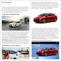 "Постинг статьи ""Prius Toyota 2015"""