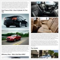 """Постинг статьи """"Ford Taurus 2016"""""""