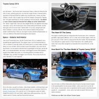 """Постинг статьи """"Toyota Camry 2016"""""""