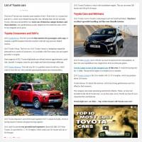 """Постинг статьи """"List of Toyota cars"""""""