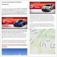 """Постинг статьи """"Lancaster Toyota Mazda Scion Dealership (Pennsylvania)"""""""