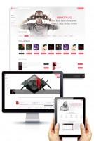 Дизайн сайта-сервиса по продаже аудио