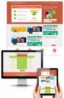 Дизайн лендинга веб-студии (вариант 2)