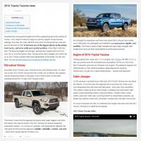 """Постинг статьи """"2016 Toyota Tacoma news"""""""