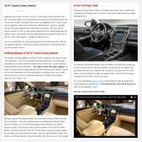 """Постинг статьи """"2016 Toyota Camry Interior"""""""
