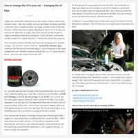 "Постинг статьи ""How to change the oil in your car – changing the oil filter"""