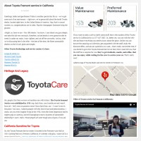 "Постинг статьи ""About Toyota Fremont service in California"""