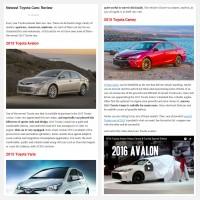 """Постинг статьи """"Newest Toyota Cars: Review"""""""