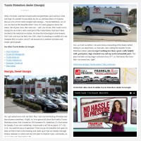 "Постинг статьи ""Toyota Statesboro dealer (Georgia)"""