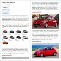 """Постинг статьи """"Popular Toyota cars 2015"""""""