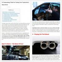 "Постинг статьи ""5+ Customizing Tricks For Turning Your Toyota Into A Work Of Art"""