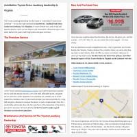 """Постинг статьи """"AutoNation Toyota Scion Leesburg dealership in Virginia"""""""