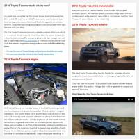 """Постинг статьи """"2016 Toyota Tacoma truck: what's new?"""""""